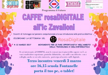 "Riccione. Evento: ""Caffè RosaDigitale all'Ic Zavalloni"""