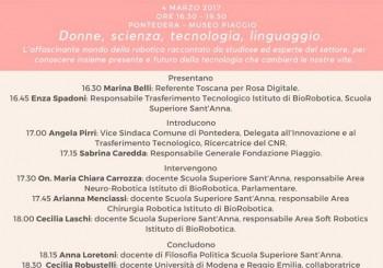 """Pontedera. Evento:""""Donne, scienza, tecnologia, linguaggio"""""""