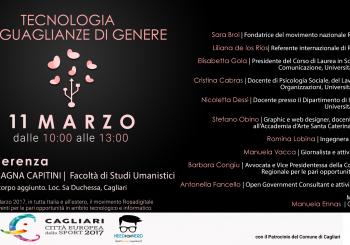 """Cagliari. Evento: """"Tecnologia e disuguaglianze di genere"""""""