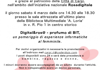 "Carpi. Evento: ""Digital&ros@ – profumo di BIT"""